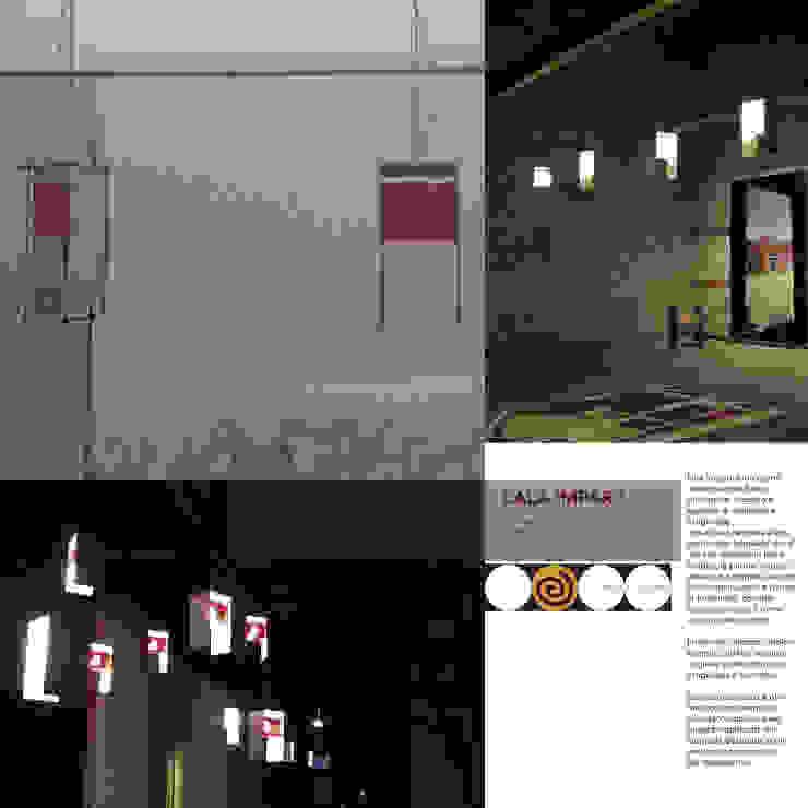 LALA 'MPARA - lampada a sospensione, da terra, da parete:  in stile industriale di Studio Arkilab - Seby Costanzo , Industrial