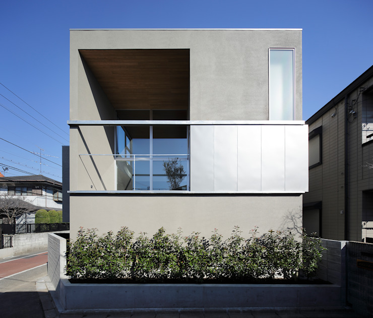 Balkon, Beranda & Teras Modern Oleh 岩崎整人建築設計事務所 (Iwasaki Architect and associates) Modern