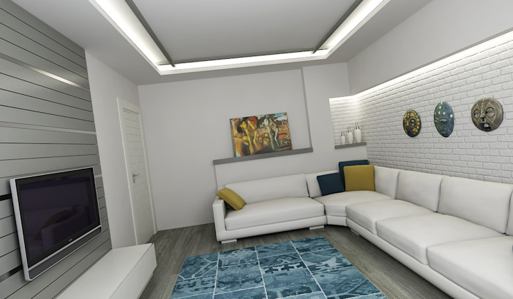 Modern Living Room by Niyazi Özçakar İç Mimarlık Modern