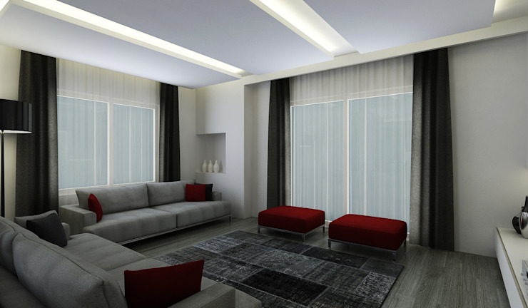 E.K. EVİ Modern Oturma Odası Niyazi Özçakar İç Mimarlık Modern