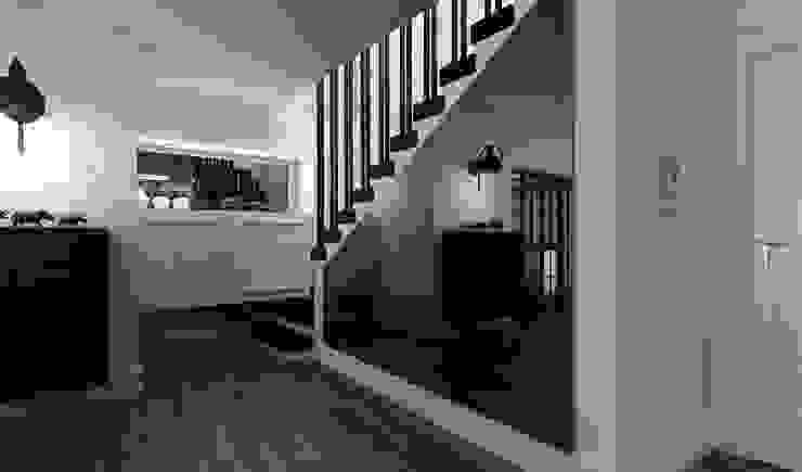 Pasillos, vestíbulos y escaleras de estilo ecléctico de Niyazi Özçakar İç Mimarlık Ecléctico