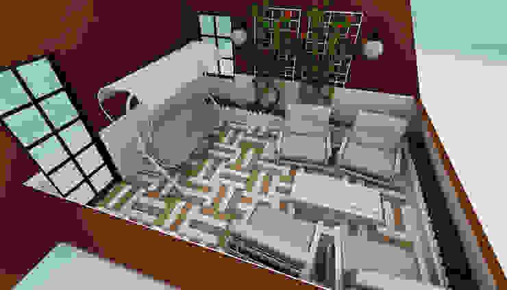 M.A. EVİ Eklektik Balkon, Veranda & Teras Niyazi Özçakar İç Mimarlık Eklektik