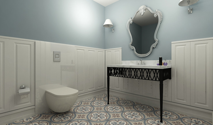 Salle de bains de style  par Niyazi Özçakar İç Mimarlık, Éclectique