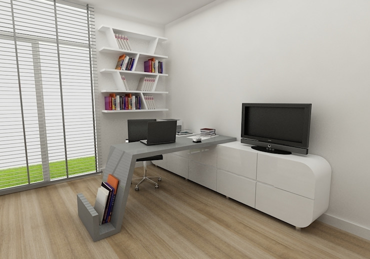 Niyazi Özçakar İç Mimarlık Modern Study Room and Home Office