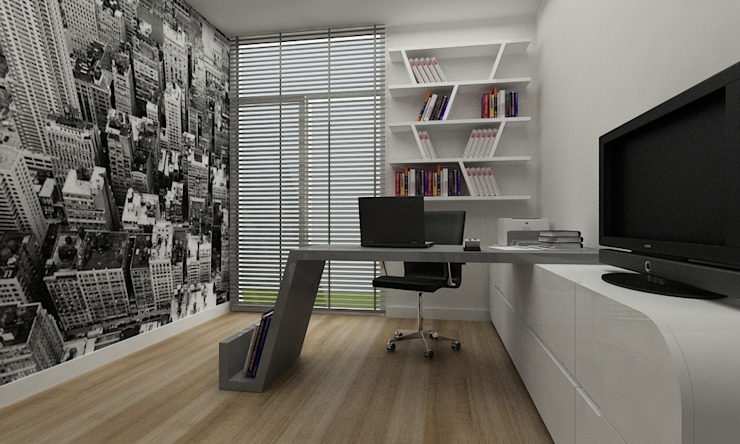 Studio moderno di Niyazi Özçakar İç Mimarlık Moderno
