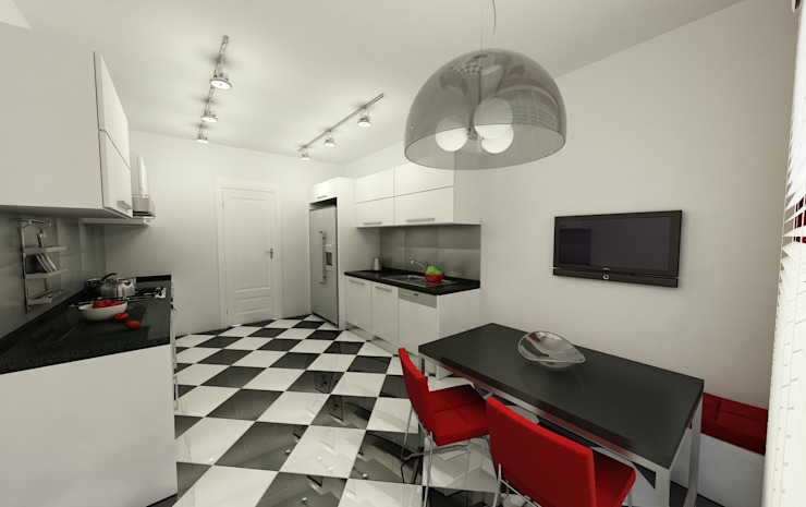 Niyazi Özçakar İç Mimarlık – METROKENT BURSA 3+1:  tarz Mutfak