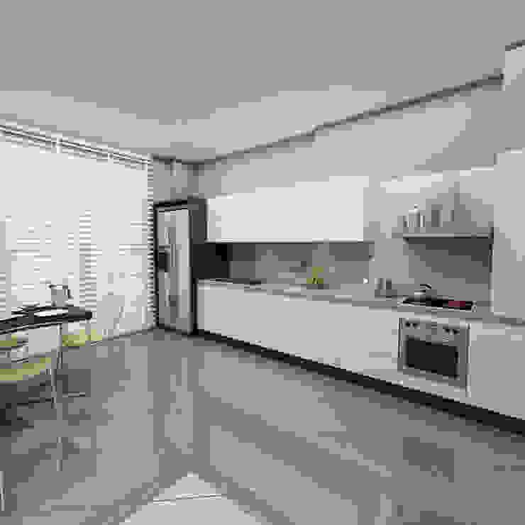 Nhà bếp phong cách hiện đại bởi Niyazi Özçakar İç Mimarlık Hiện đại