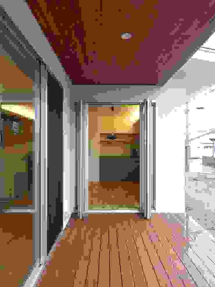 ウッドデッキ ai建築アトリエ オリジナルデザインの テラス