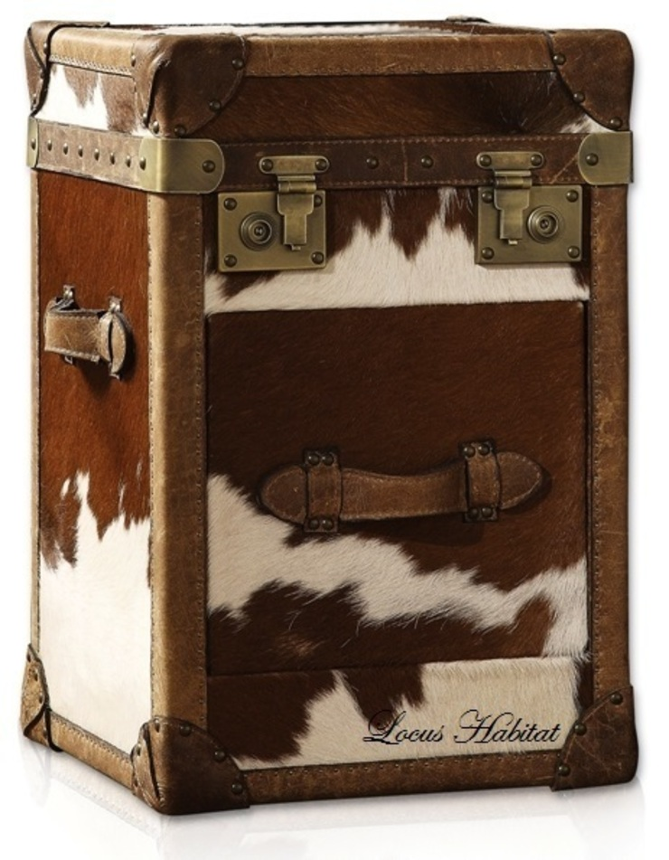 Storage Trunk in Animal Hide: rustic  by Locus Habitat,Rustic
