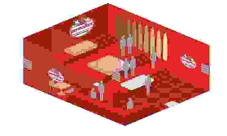 Permaflex punti vendita ed allestimenti progetto Claudio Bettini. Allestimenti fieristici in stile classico di bettini design Classico