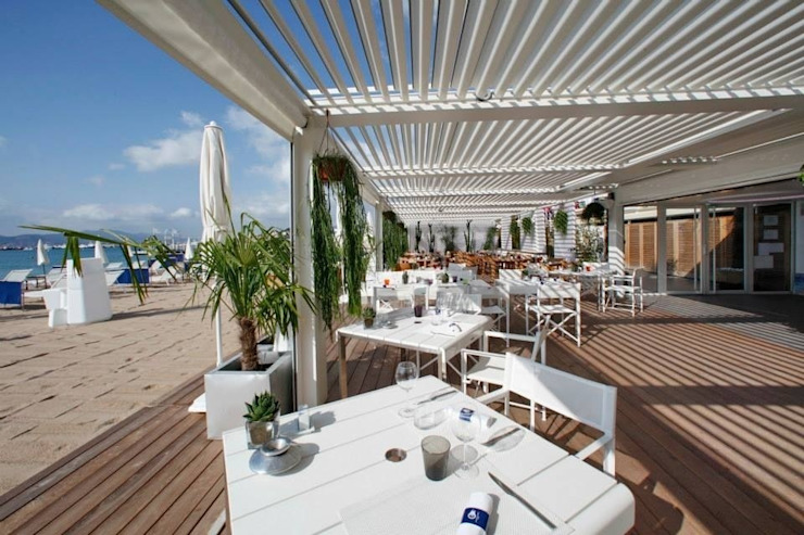 TERRAZAS/ RESTAURANTES/HOTELES Gastronomía de estilo moderno de DISTRIBUCIONES/JP Moderno