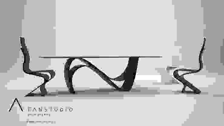 COMEDOR MINIMALISTA_laminart collection Comedores de estilo moderno de FANSTUDIO__Architecture & Design Moderno