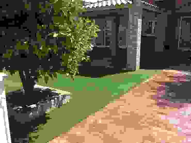 Hierba artificial jardín Jardines de estilo moderno de Allgrass Solutions Moderno