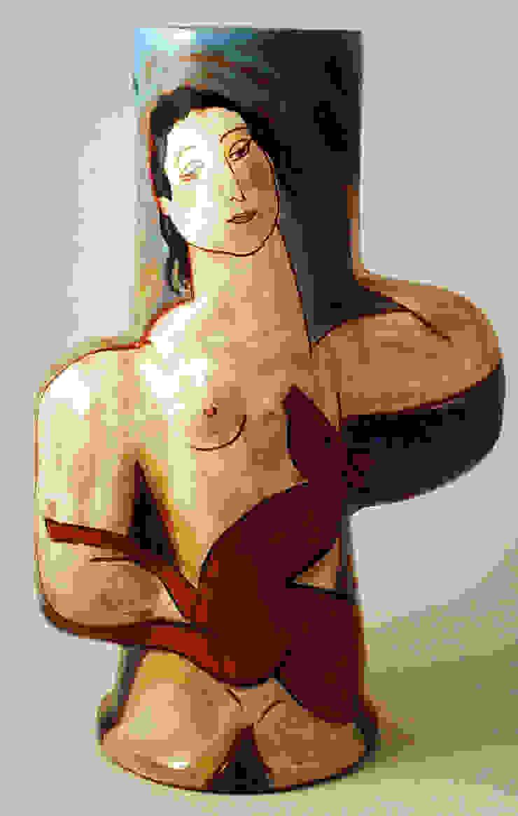 2 Faunes: modern  by Michael Kay; Ceramic Artist, Modern
