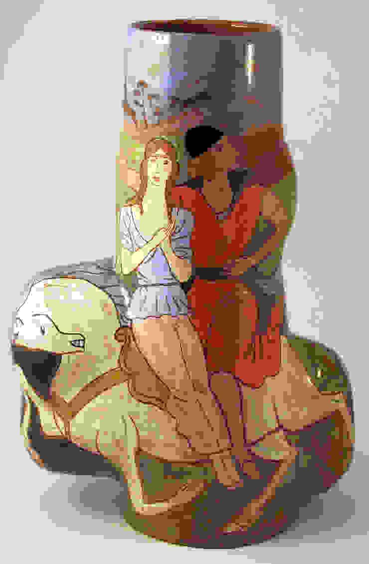 Enlevement d'Helene.: modern  by Michael Kay; Ceramic Artist, Modern