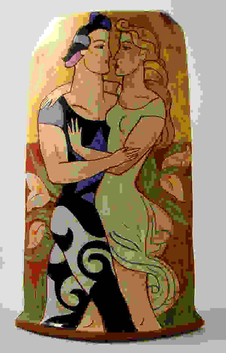 Les Amoureux.: modern  by Michael Kay; Ceramic Artist, Modern
