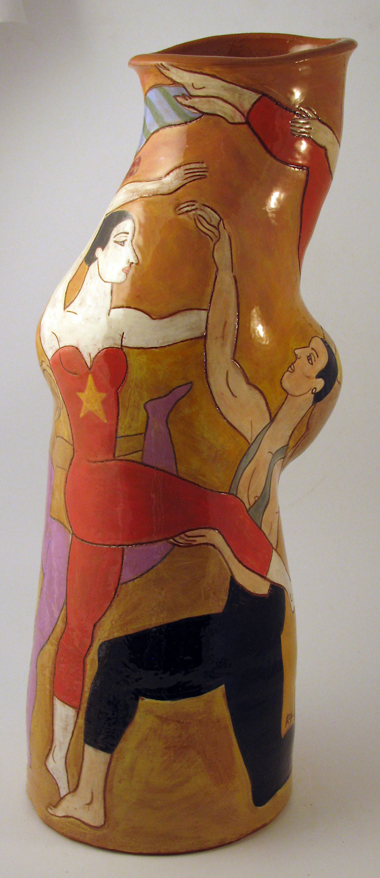 Acrobats: modern  by Michael Kay; Ceramic Artist, Modern