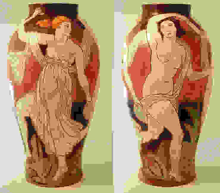 2 Graces: modern  by Michael Kay; Ceramic Artist, Modern