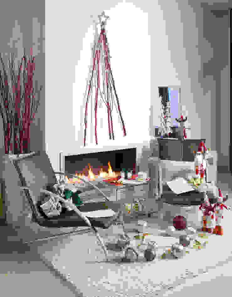 Ambiente Navidad Salones rústicos de estilo rústico de Actúa Decor Rústico