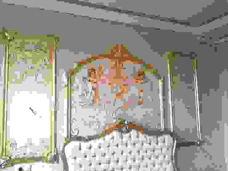 орнаментальные ангелы и золочение Спальня в классическом стиле от Абрикос Классический