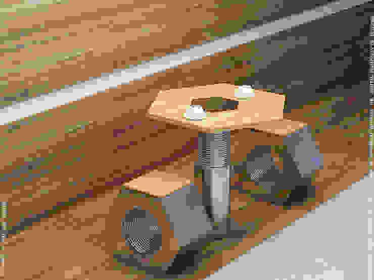 Nut & Bolt Coffee table: rustic  by Preetham  Interior Designer,Rustic