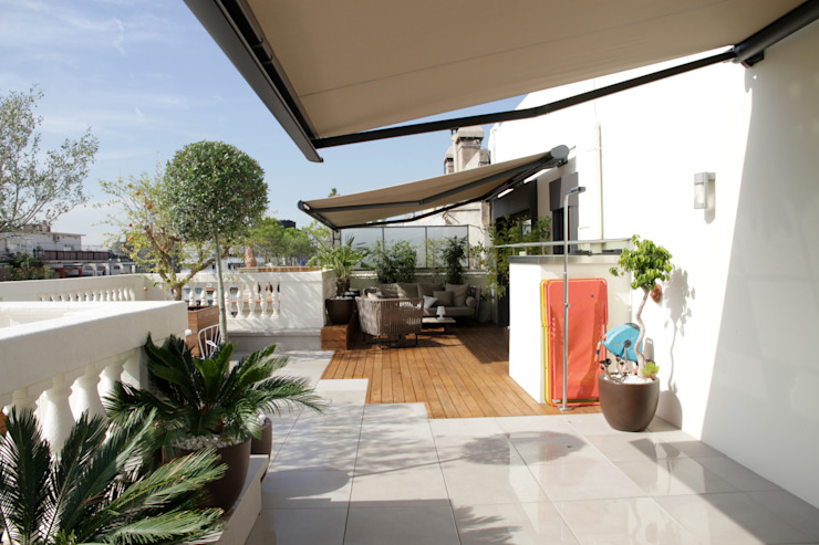terrace Moderner Balkon, Veranda & Terrasse von FG ARQUITECTES Modern