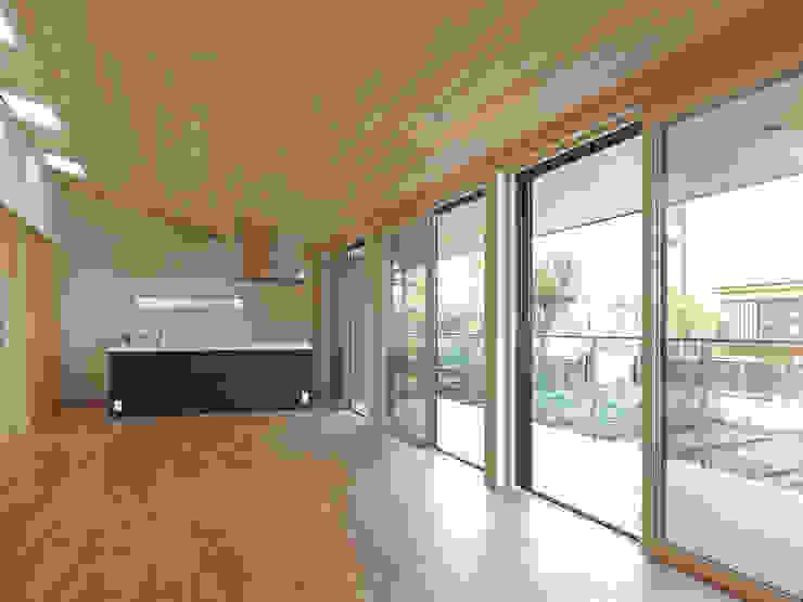LDKとテラス ミニマルデザインの リビング の 田所裕樹建築設計事務所 ミニマル