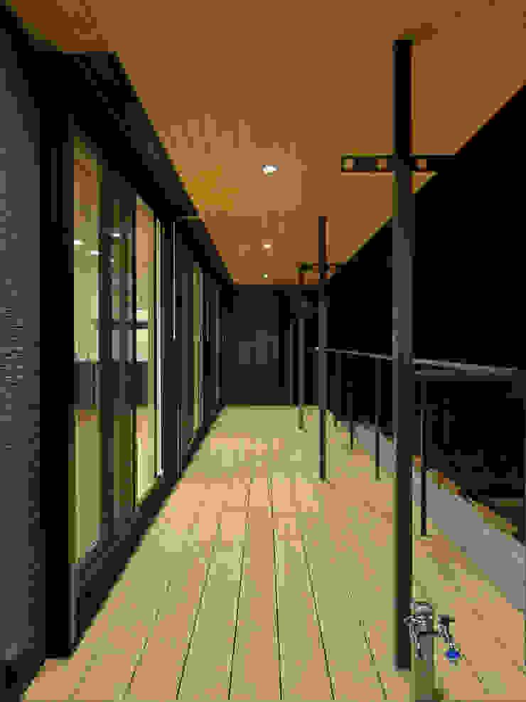 テラス夜景 ミニマルデザインの テラス の 田所裕樹建築設計事務所 ミニマル