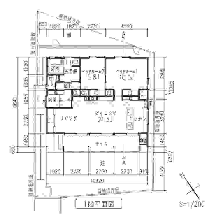 平面図: 田所裕樹建築設計事務所が手掛けたミニマリストです。,ミニマル