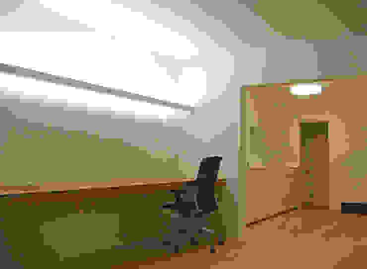 ワークスペースとキッチン ミニマルデザインの 書斎 の 田所裕樹建築設計事務所 ミニマル