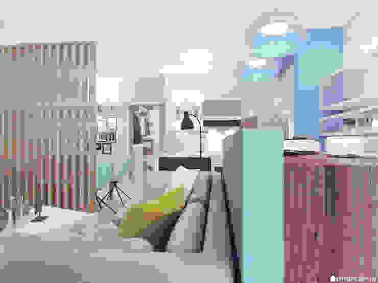 Трехкомнатная квартира в ЖК <q>Акварели</q>, г. Балашиха от Студия 'perspective' Минимализм