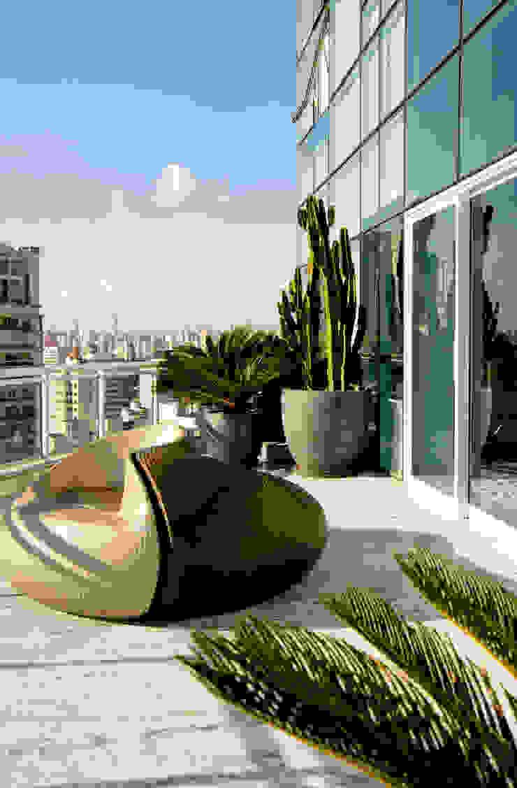Duplex Cidade Jardim - São Paulo Varandas, alpendres e terraços clássicos por Brunete Fraccaroli Arquitetura e Interiores Clássico