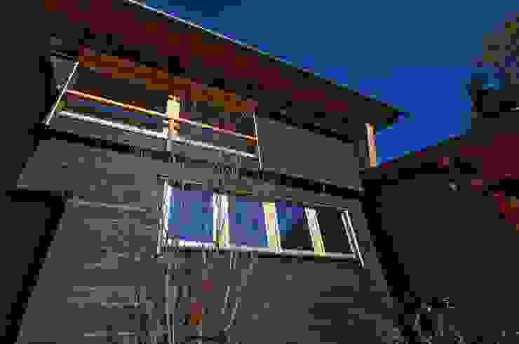 前庭のヤマボウシ ラスティックな 家 の DEMU建築設計事務所 ラスティック