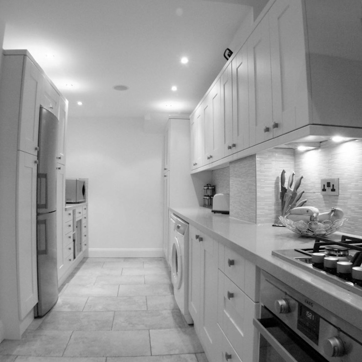From Granite Transformations, granite overlays Whitehouse Interiors Cocinas de estilo moderno