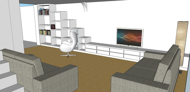 Lounge Bespoke Bookcase and renovation Whitehouse Interiors
