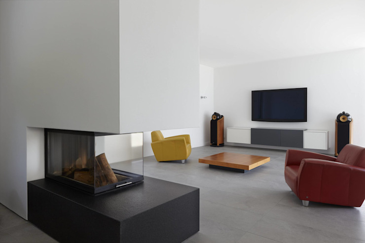 Haus_W Moderne Wohnzimmer von Fachwerk4 | Architekten BDA Modern