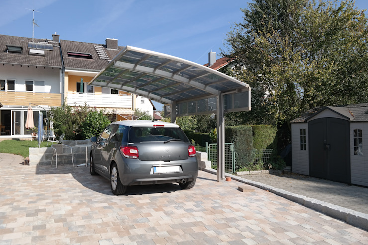 Garages & sheds by Deutsche Carportfabrik GmbH & Co. KG