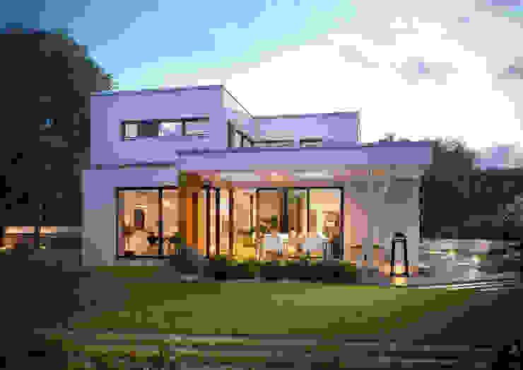 Case moderne di Büdenbender Hausbau GmbH Moderno Legno Effetto legno