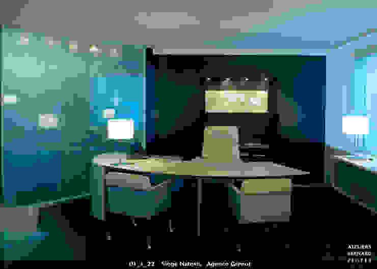 Bureau de direction, siège de Natexis le verre appliqué à la décoration et à l'architecture Espaces de bureaux modernes