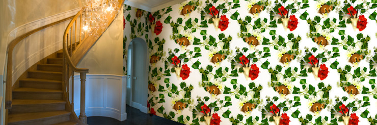 Muurbloem Design Studio_Collection Flowers + Leaves_Ivy & Amaryllis: modern  door Muurbloem Design Studio, Modern