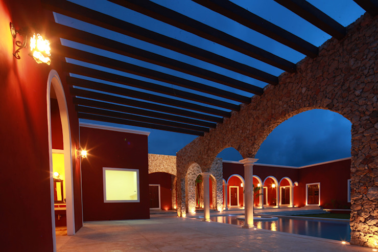 بلكونة أو شرفة تنفيذ Arturo Campos Arquitectos,