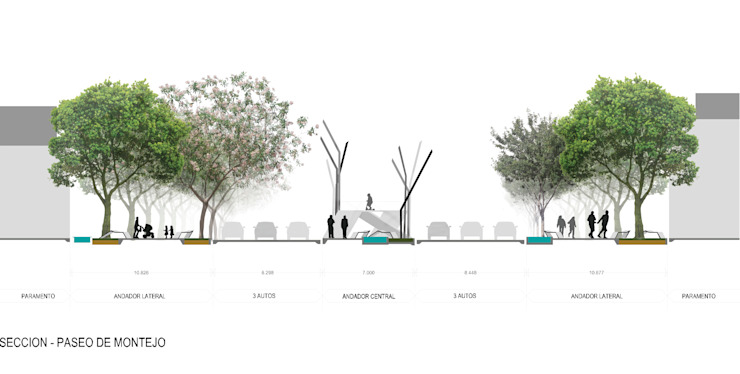 Sección Paseo Montejo de Arturo Campos Arquitectos