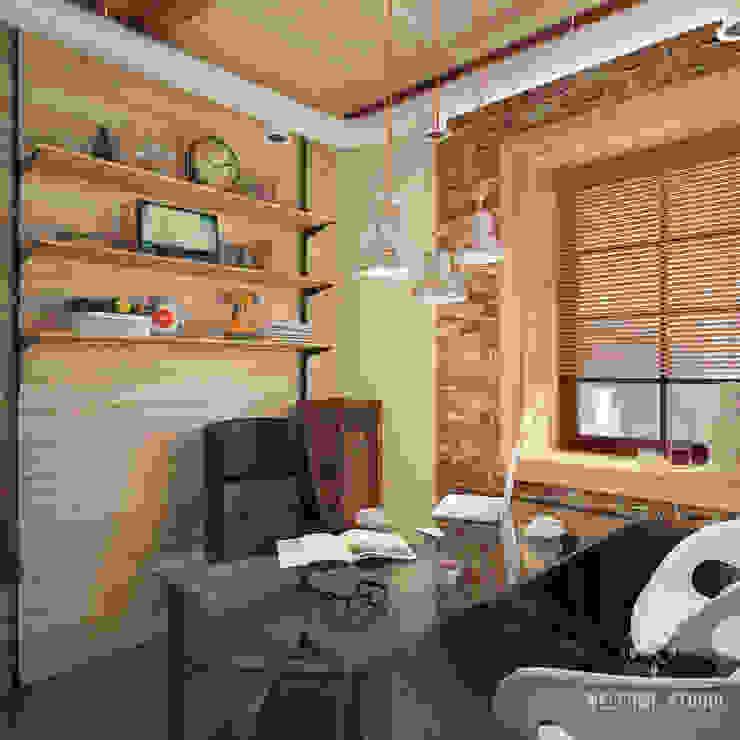 Estudios y despachos de estilo industrial de Мастерская дизайна Welcome Studio Industrial