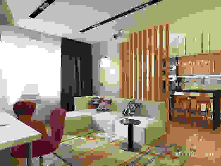 Salones escandinavos de Мастерская дизайна Welcome Studio Escandinavo