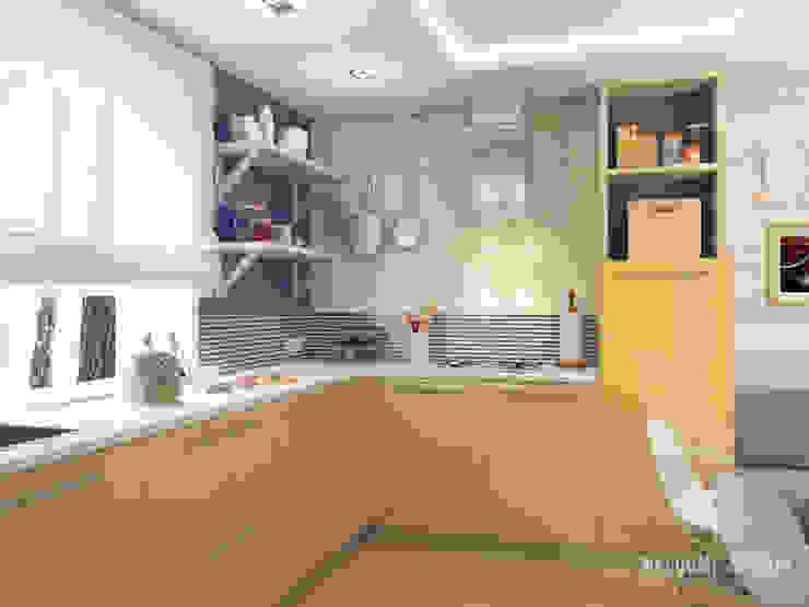 Проект HOME I Гостиная в частном доме Кухни в эклектичном стиле от Мастерская дизайна Welcome Studio Эклектичный
