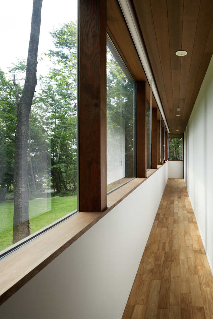 廊下 和風の 玄関&廊下&階段 の atelier137 ARCHITECTURAL DESIGN OFFICE 和風 木 木目調