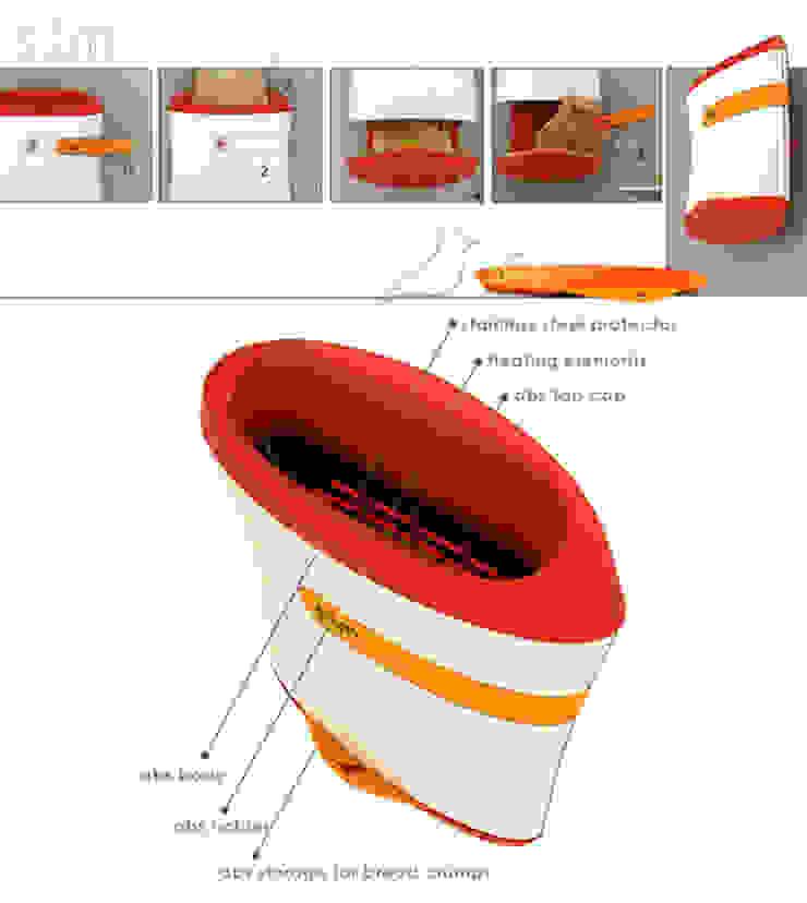 Studio MU•CA – Slim toaster: minimalist tarz , Minimalist