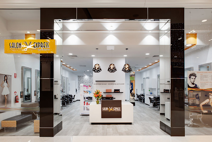 Salon Express 1 Shopfront Modern shopping centres by Natasha Fowler Design Solutions Modern