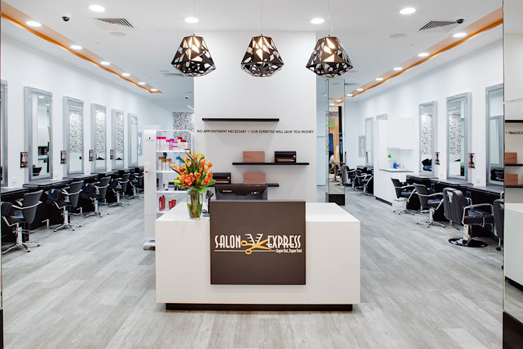 Salon Express 2 Service Counter Modern shopping centres by Natasha Fowler Design Solutions Modern