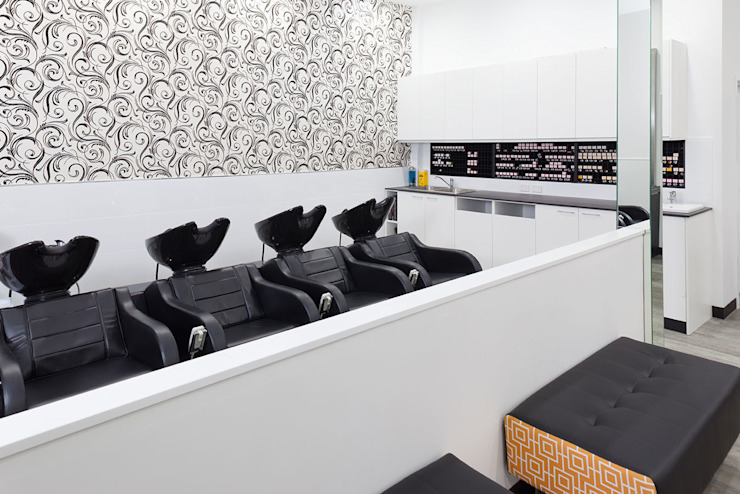 Salon Express 4 Hair Wash Basins Modern shopping centres by Natasha Fowler Design Solutions Modern